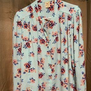 Cute flowery button up shirt
